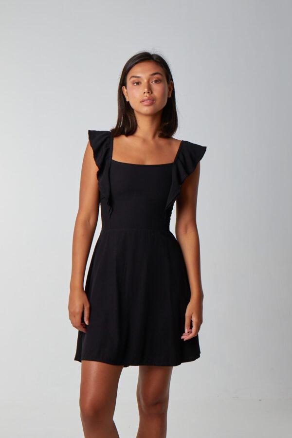 Love Spread Dress Black-1