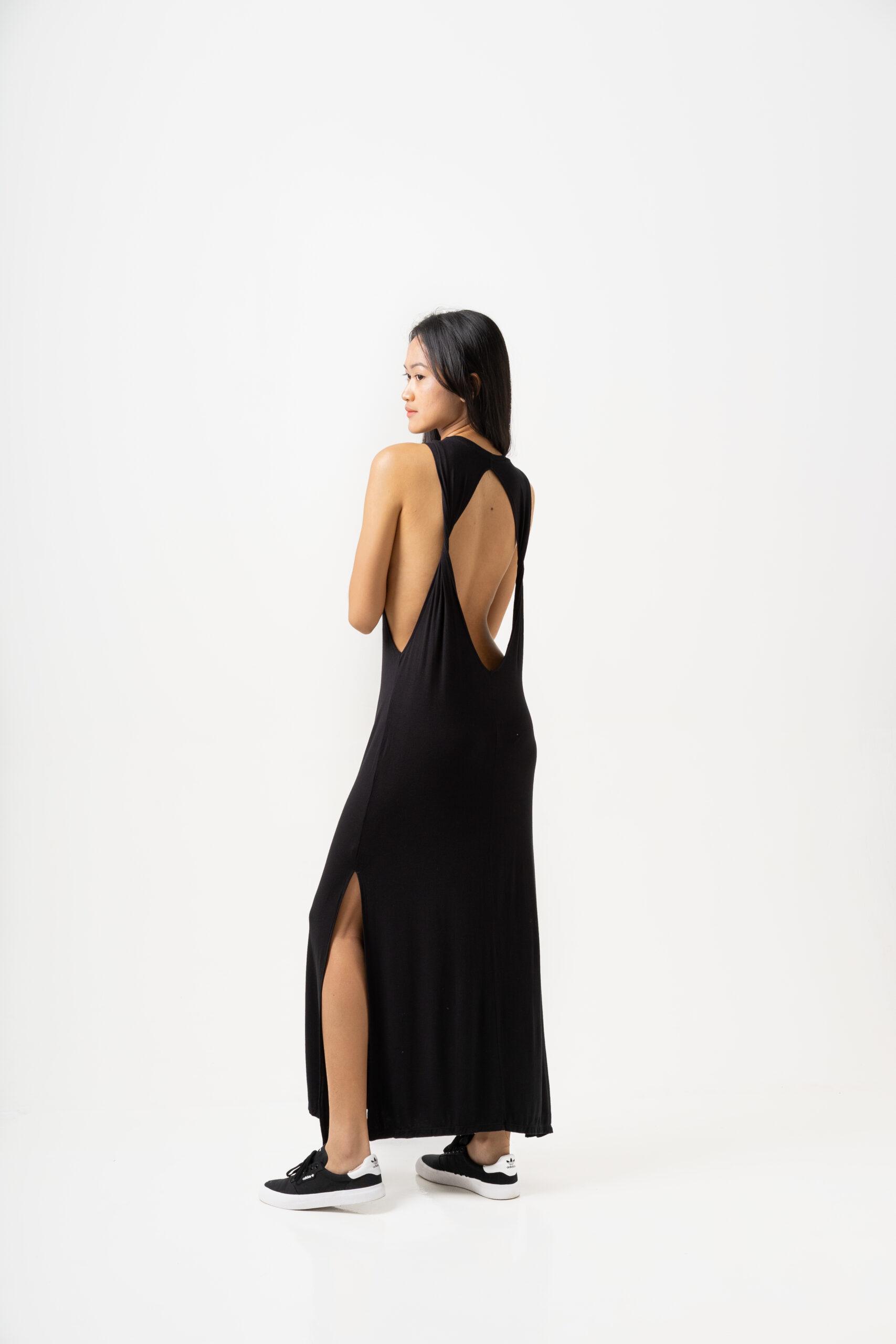 Twisted Dress Black-3