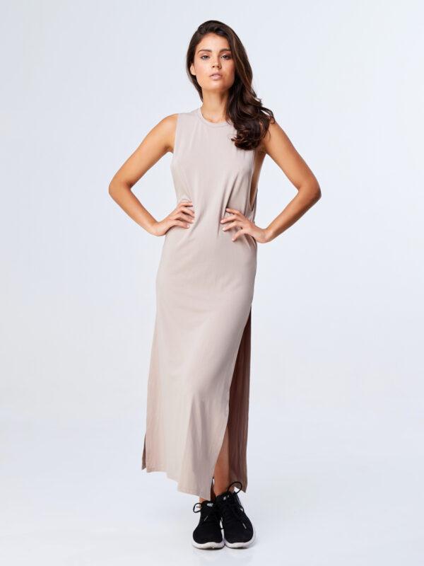 Twisted Dress Sand-1