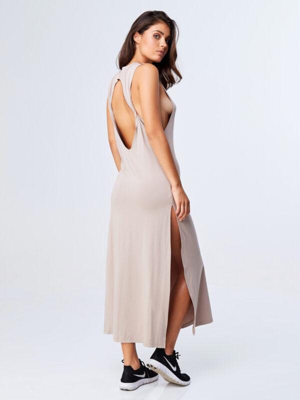 Twisted Dress Sand-2