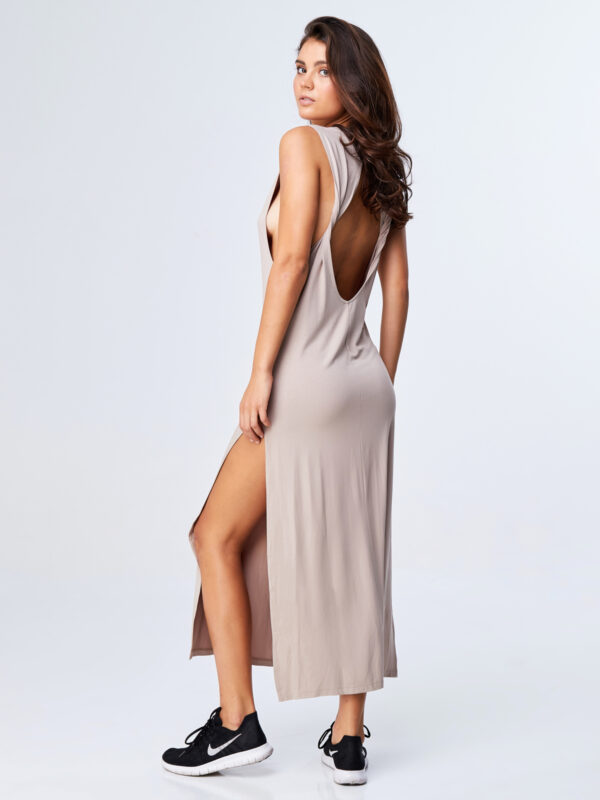 Twisted Dress Sand-3